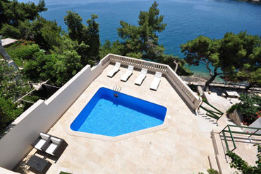seafront pool villa Brac Holiday villa Croatia (5)