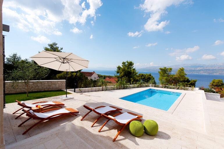 Luxury Pool Villa Splitska Brac