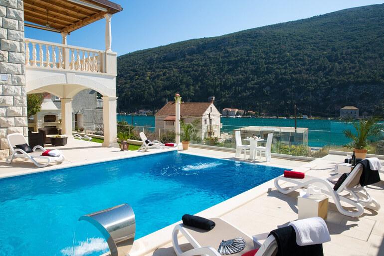 Riviera Pool seafront pool villa rozat dubrovnik riviera santo